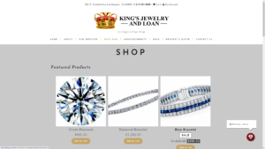 Kings Jewelry and Loan website design